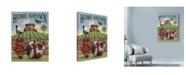 "Trademark Global Margaret Wilson 'Pig And Strawberries' Canvas Art - 18"" x 24"""