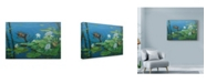 "Trademark Global Michael Jackson 'Moorhen' Canvas Art - 19"" x 12"""