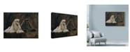 "Trademark Global Solveiga 'Two American Cockers' Canvas Art - 19"" x 14"""