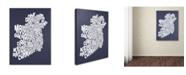 "Trademark Global Michael Tompsett 'SLATE-Ireland Text Map' Canvas Art - 18"" x 24"""