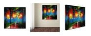 "Trademark Global Ricardo Tapia 'Night Reflection' Canvas Art - 18"" x 18"""