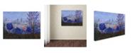 "Trademark Global Manor Shadian 'Mystic Town' Canvas Art - 18"" x 24"""