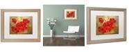 "Trademark Global Rio 'Poppies' Matted Framed Art - 16"" x 20"""