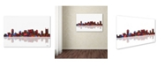 "Trademark Global Marlene Watson 'Nashville Tennessee Skyline' Canvas Art - 16"" x 24"""