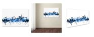 "Trademark Global Michael Tompsett 'London England Skyline' Canvas Art - 16"" x 24"""