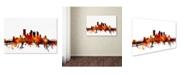 "Trademark Global Michael Tompsett 'Pittsburgh Pennsylvania Skyline III' Canvas Art - 16"" x 24"""