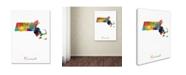 "Trademark Global Michael Tompsett 'Massachusetts Map' Canvas Art - 18"" x 24"""