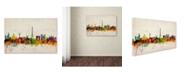 "Trademark Global Michael Tompsett 'Paris Skyline' Canvas Art - 18"" x 28"""