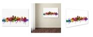 "Trademark Global Michael Tompsett 'Kansas City Skyline' Canvas Art - 18"" x 28"""