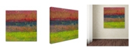 "Trademark Global Michelle Calkins 'Lake and Hills' Canvas Art - 35"" x 35"""
