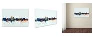 "Trademark Global Michael Tompsett 'Albuquerque NM Skyline Blue' Canvas Art - 22"" x 32"""