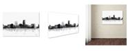 "Trademark Global Marlene Watson 'Omaha Nebraska Skyline BG-1' Canvas Art - 22"" x 32"""