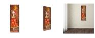 "Trademark Global Wyanne 'Big Eyed Girl Moon Dancing' Canvas Art - 6"" x 19"""