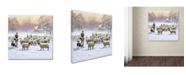 "Trademark Global The Macneil Studio 'Sheep Shepherd' Canvas Art - 24"" x 24"""