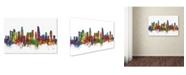 "Trademark Global Michael Tompsett 'Los Angeles California Skyline II' Canvas Art - 22"" x 32"""