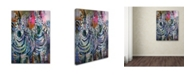 "Trademark Global Richard Wallich 'Art Zebra' Canvas Art - 24"" x 32"""