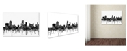 "Trademark Global Marlene Watson 'Newark New Jersey Skyline BW' Canvas Art - 22"" x 32"""