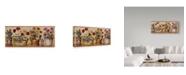 "Trademark Global Lisa Audit 'Flower Pots' Canvas Art - 8"" x 19"""