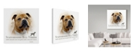 "Trademark Global Howard Robinson 'Staffordshire Bull Terrier' Canvas Art - 35"" x 35"""