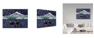 "Trademark Global Jake Hose 'An Island Christmas' Canvas Art - 35"" x 47"""
