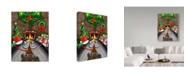 "Trademark Global Jake Hose 'Under The Mistletoe' Canvas Art - 24"" x 32"""