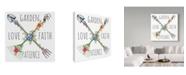 "Trademark Global Jean Plout 'Garden Love' Canvas Art - 35"" x 35"""