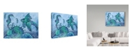 "Trademark Global Jean Plout 'Ocean Blues Shell' Canvas Art - 24"" x 32"""