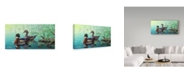 "Trademark Global Jeff Tift 'Wood Ducks' Canvas Art - 24"" x 47"""