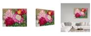 "Trademark Global Joanne Porter 'Cheryls Peony Garden' Canvas Art - 24"" x 32"""