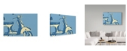 "Trademark Global John W. Golden 'Motoretta' Canvas Art - 30"" x 47"""