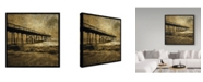 "Trademark Global John W. Golden 'Ocean Pier Left' Canvas Art - 24"" x 24"""