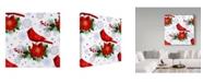 "Trademark Global Maria Rytova 'Cheerful Composition with Cardinal 4' Canvas Art - 35"" x 35"""