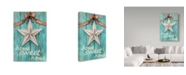 "Trademark Global Melinda Hipsher 'White Barn Star With Bow Home White' Canvas Art - 22"" x 32"""