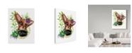 "Trademark Global Sheena Pike Art And Illustration 'The Garden Sign Fox' Canvas Art - 24"" x 32"""