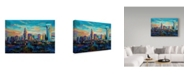 "Trademark Global Jace D. Mctier 'The Queen City Charlotte North Carolina' Canvas Art - 32"" x 22"""