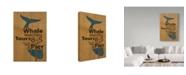 "Trademark Global J Hovenstine Studios 'Whale Sign On Wood 1' Canvas Art - 30"" x 47"""