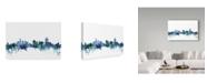 "Trademark Global Michael Tompsett 'Cincinnati Ohio Blue Teal Skyline' Canvas Art - 47"" x 30"""