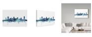 "Trademark Global Michael Tompsett 'Nashville Tennessee Blue Teal Skyline' Canvas Art - 32"" x 22"""