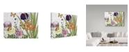 "Trademark Global Jean Plout 'Florals And Butterflies 3' Canvas Art - 32"" x 24"""