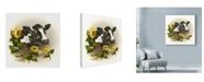 "Trademark Global Peggy Harris 'Bull & Sunflowers' Canvas Art - 35"" x 35"""