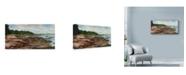 "Trademark Global Michael Davidoff 'Spruce Head Peninsula' Canvas Art - 32"" x 16"""