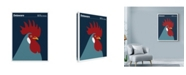 "Trademark Global Print Collection - Artist 'Blue Hen Chicken Delaware' Canvas Art - 35"" x 47"""