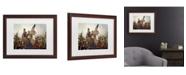 "Trademark Global Emanuel Leutze ''Washington Crossing Delaware River In 1776' Matted Framed Art - 20"" x 16"""