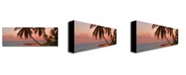 "Trademark Global Preston 'Cayman Palms II' Canvas Art - 24"" x 8"""