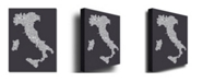 "Trademark Global Michael Tompsett 'Italy in Charcoal' Canvas Art - 24"" x 16"""