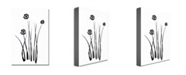 """Trademark Global Kathie McCurdy 'White and Black Bunch' Canvas Art - 24"""" x 16"""""""