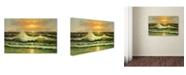 "Trademark Global Rio 'Sunset' Canvas Art - 32"" x 22"""