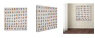 """Trademark Global Nicole Dietz 'Flower Pattern' Canvas Art - 35"""" x 35"""""""