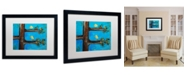 "Trademark Global Nicole Dietz 'Birds in a Tree Mixed Media' Matted Framed Art - 20"" x 16"""