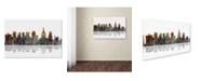 "Trademark Global Marlene Watson 'Philadelphia Pennsylvania Skyline' Canvas Art - 30"" x 47"""